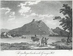 Drysllwyn Castle with Gronger Hill