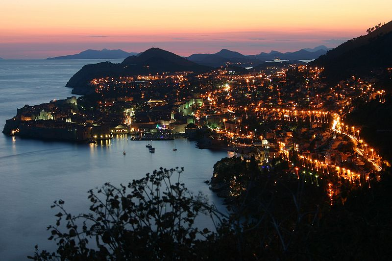 Dubrovnik by night. From Highlights of a Dubrovnik Trip