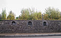 Dunmore Church Street Old Graveyard Wall with Carved Heads 2010 09 16.jpg