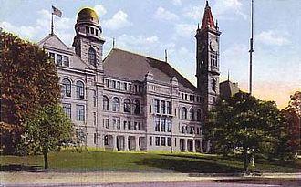 B.M.C. Durfee High School (1886 building) - Durfee High School, 1920
