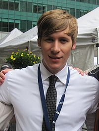 Justin at the 2009 NYC LGBT Rally