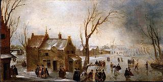 A Winter Scene on the Ice