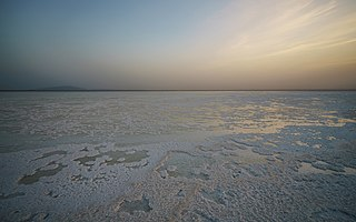 lake in Afar Region, Ethiopia