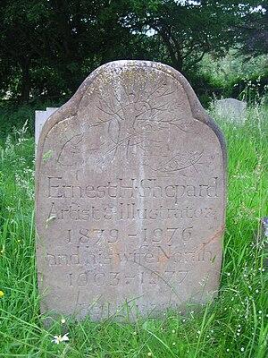 E. H. Shepard - Shepard's grave at Lodsworth church