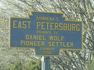 East Petersburg, Pennsylvania - Image: East Petersburg, PA Keystone Marker