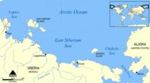 Isla de Wrangel-Geografía-East Siberian Sea map