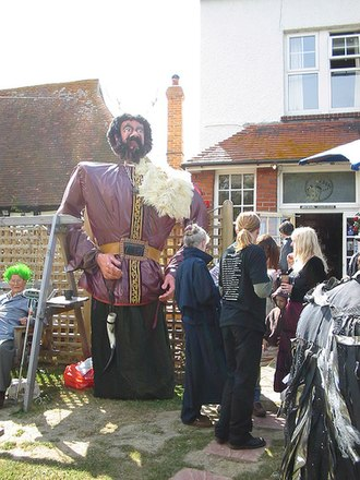 Long Man of Wilmington - Annual pagan Long Man celebrations (with effigy)
