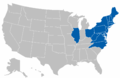 Eastern College Athletic Conference map.png