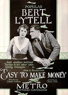 <i>Easy to Make Money</i> 1919 silent film directed by Edwin Carewe