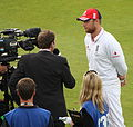 Edgbaston E v A 2009 - Flintoff Talks to Mike Atherton (3852403002).jpg