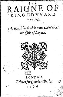 <i>Edward III</i> (play) 1596 play often attributed to Shakespeare
