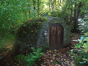 Ice house (building) - The ice house entrance, Eglinton Country Park, Scotland, United Kingdom