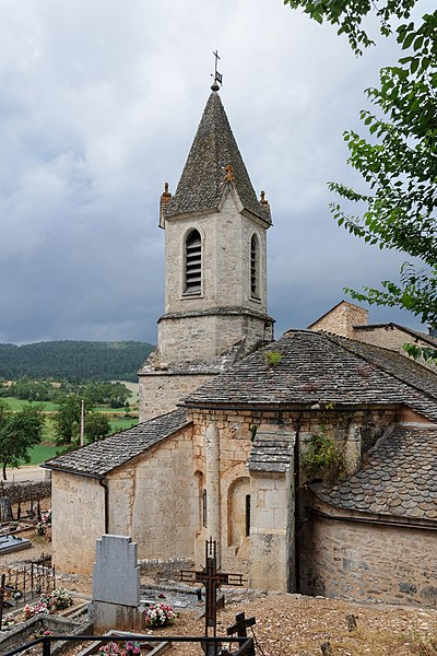 Saint Martin's Church of La Capelle, La Canourgue, Lozère, France: view of the apse