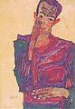 Egon Schiele - Selbstbildnis mit herabgezogenem Augenlid - 1910.jpg