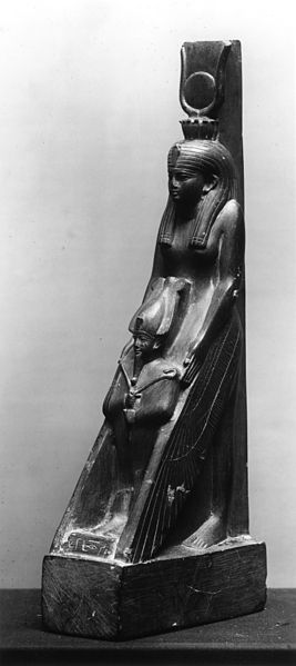 File:Egyptian - Statue of Isis Protecting Osiris - Walters 22199 - Three Quarter.jpg