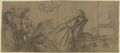 Eine Schülerin des Künstlers, Bertha Gerson, beim Zeichenunterricht, hinter ihr der Künstler Otto Scholderer (?) (SM 15322z).png