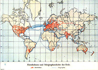News - World railway and telegraph system, 1900
