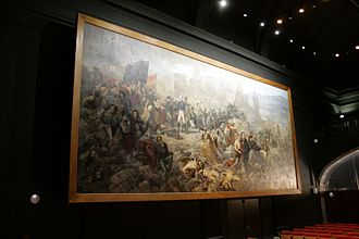 The Great Day of Girona - The painting in the Josep Irla Auditorium