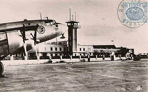 Tunis–Carthage International Airport - Tunis Airport in 1952.