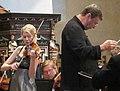 Elina Vähälä ja Okko Kamu, Sinfonia Lahti, Naantalin Musiikkijuhlat, Naantalin kirkko, Naantali, 8.6.2011 (3).jpg