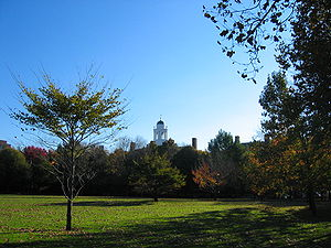 Eliot House (Harvard College) - Eliot House cupola from JFK Park