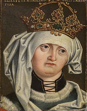 Elizabeth of Carinthia, Queen of Germany - Portrait by Anton Boys, 16th century