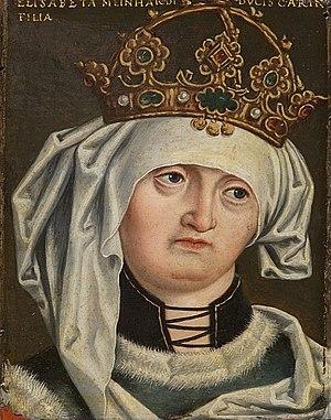Elizabeth of Carinthia, Queen of Germany - Portrait by Anton Boys, 16th century