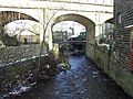 Elphin Brook and railway viaduct, Mytholmroyd - geograph.org.uk - 267863.jpg