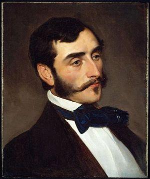 William Morris Hunt - Portrait of William Morris Hunt by Emanuel Leutze (about 1845)