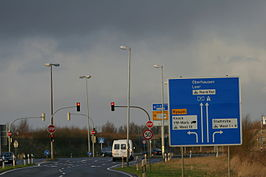 Begin van de Bundesautobahn 31 in Emden