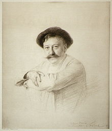Aimé Morot, 1905, gravure of drawing by Émile Friant[1]