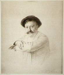 Aimé Morot, 1905, huecograbado de dibujo de Émile Friant [1]