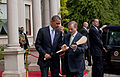 Enda Kenny presents Barack Obama with a hurley.jpg