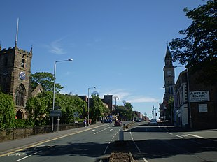 <small>Entering Chorley town centre</small>