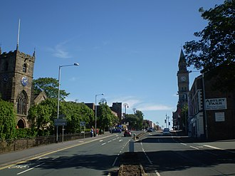 Chorley - Image: Entering Chorley Town Centre