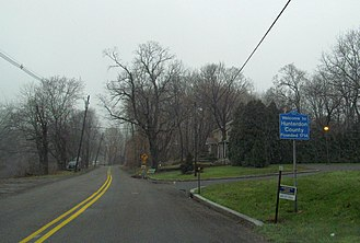 Hunterdon County, New Jersey - Entering Hunterdon County along Route 643