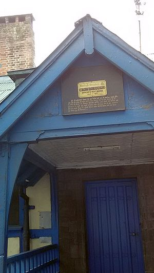 Shimla - Entrance of the Crowborough Rest House built in 1921