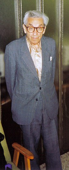 Paul Erdős at a student seminar in Budapest (fall 1992)