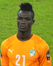 Eric Bailly at the 2015 Africa Cup of Nations