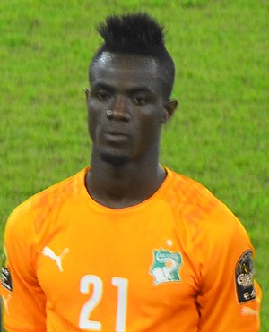 Eric Bailly - Bailly representing the national team in 2015