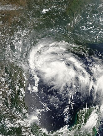 2007 Atlantic hurricane season - Image: Erin 15 aug 2007 1940Z