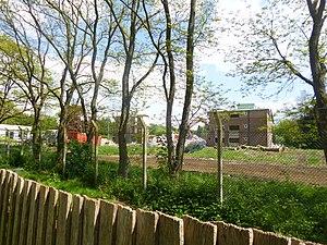 Erskine Barracks - Erskine Barracks undergoing demolition