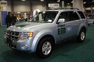 Flexible-fuel vehicle - Demonstration E85 flex-fuel Ford Escape Hybrid.