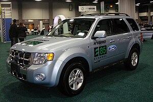 Flexible-fuel vehicle - Demonstration E85 flex-fuel Ford Escape Hybrid.