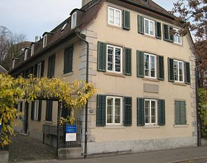 "Alfred Escher - ""Neuberg"", the house where Escher was born on Zurich's Hirschengraben"