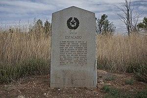 Estacado, Texas - Image: Estacado Texas historical marker 2011