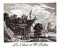 Estampes - 101 - scene de vie campagnarde - conversation au village de Couché d apres David Teniers.jpg
