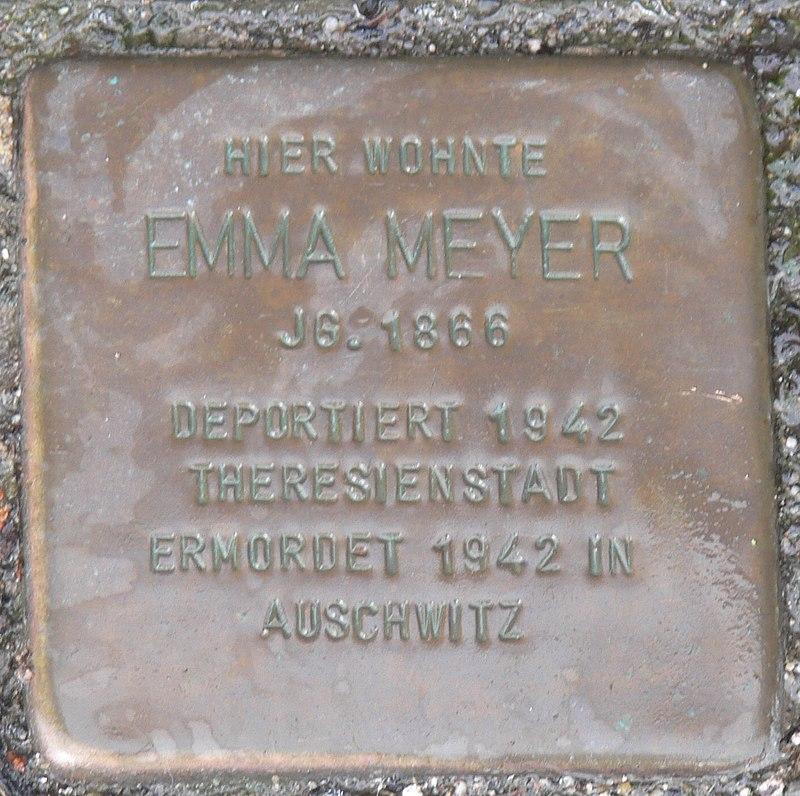 Estenfeld Stolperstein Meyer, Emma.jpg