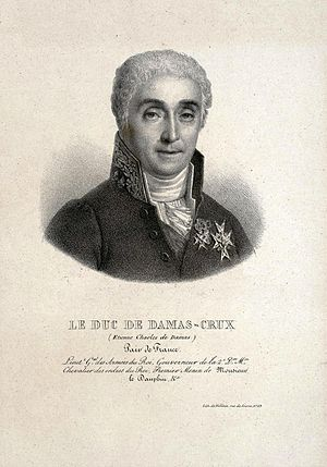 Étienne-Charles de Damas-Crux - Portrait engraving of Damas-Crux