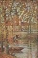 Eugène Chigot(1860 - 1923), Un coin de France ( L'autumn au Château d 'Aubry)(?) (1909), oil painting.jpg